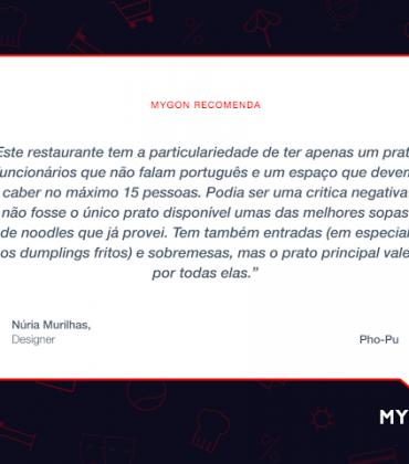 Mygon Recomenda: Pho-Pu